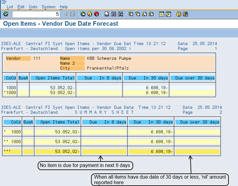SAP Standard Reports for Accounts Payables-1