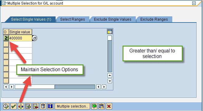 Maintain Selection Options for Parameter Selection - Image